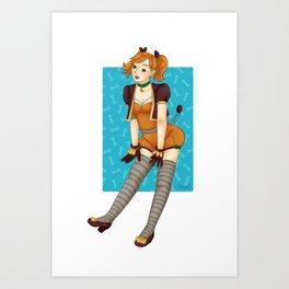 Zig Zag idol Art Print