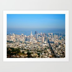 Twin Peaks, San Francisco Art Print