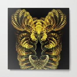 Gold Pill Bug with Ram's Horns Metal Print