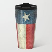 2001 Travel Mugs featuring Texas state flag, Vertical retro vintage version  by Bruce Stanfield