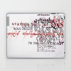 Calligraphic poster IV Laptop & iPad Skin