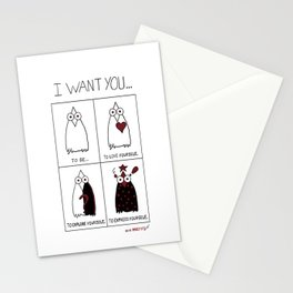 I Want You... Stationery Cards