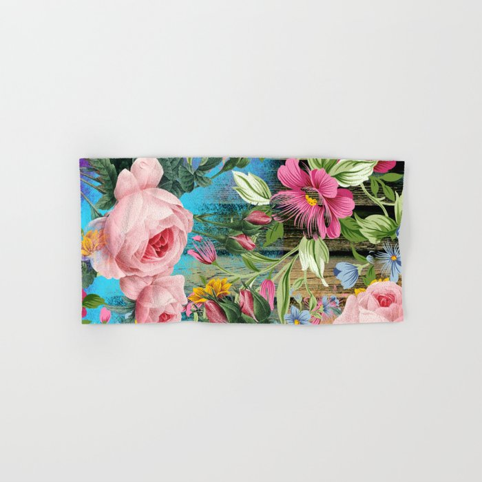 Vintage Flowers #9 Hand & Bath Towel