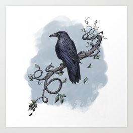 Carrion Crow Art Print