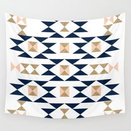 Jacs - Modern pattern design in aztec themed pattern navajo print textile cute trendy girl Wall Tapestry