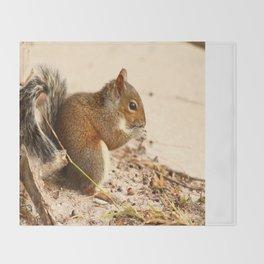 Squirrels Meal Throw Blanket
