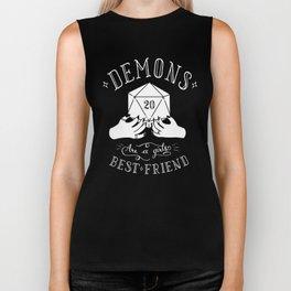 Demons Are A Girl's Best Friend Biker Tank