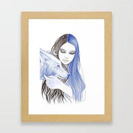 Blue Light Framed Art Print