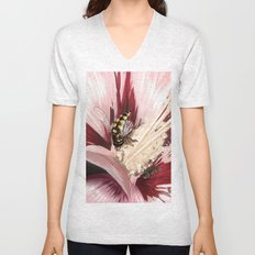 Wasp on flower 7 Unisex V-Neck