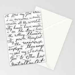 How Great Thou Art. Stationery Cards