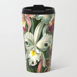 Victorian Orchids Floral Print-Ernst Haeckel Travel Mug