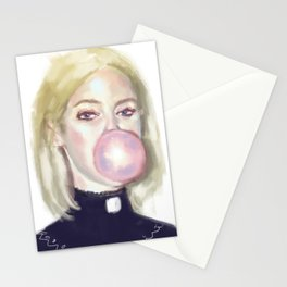 Girl In A Bubble Stationery Cards