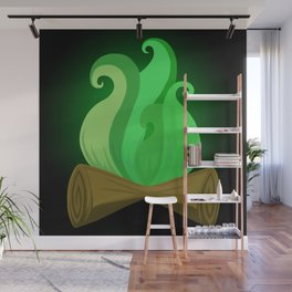 Toxic fire Wall Mural