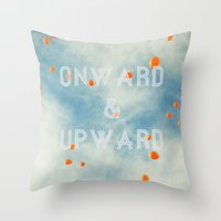 onward Throw Pillows featuring Onward & Upward by SilverSatellite