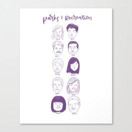 Faces of Parks & Rec Canvas Print