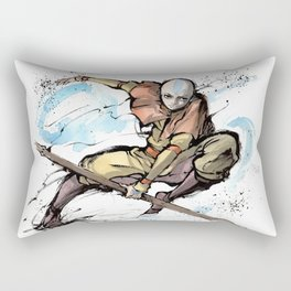 Aang from Avatar the Last Airbender sumi/watercolor Rectangular Pillow