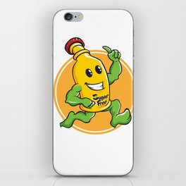 Bottle Cartoon Mascot Character brawny iPhone Skin