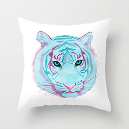 Tyger, Tyger, Burning Blue Throw Pillow