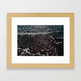 semi-neon ocean Framed Art Print