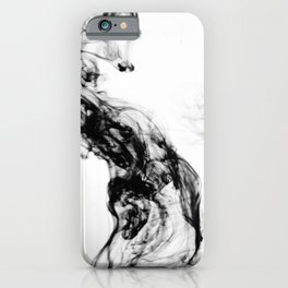 MONOCHROME MARBLE / INDIAN INK IN WATER iPhone Case