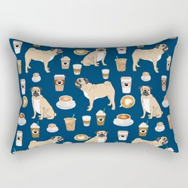 Pug coffee pupuccino dog breed cute pugs pure breed lovers gifts Rectangular Pillow