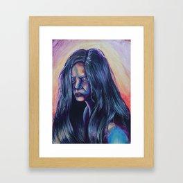 Grief; Resentfully holding grudges Framed Art Print
