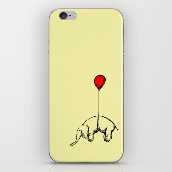 Red Elephant iPhone Skin