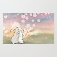 fairies Area & Throw Rugs featuring Sunset Fairies by Bluedogrose