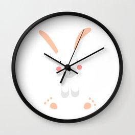 Bunny white Wall Clock