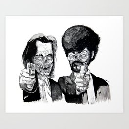 Zombie Fiction Art Print