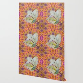 Bauhinia on vibrant kaleidoscope Wallpaper