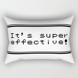 It's Super Effective! Rectangular Pillow