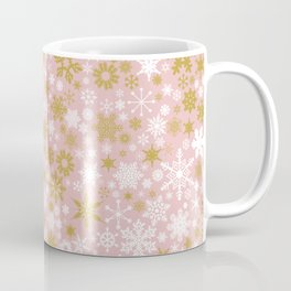 A Thousand Snowflakes in Rose Gold Coffee Mug