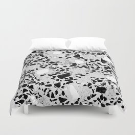 Real Terrazzo Stone Marble Concrete Mix Pattern Duvet Cover