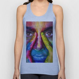 Rainbow girl Unisex Tank Top