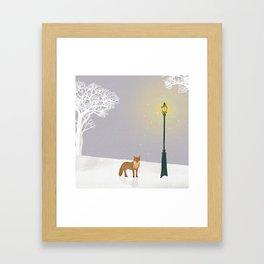Snow and Lamp | Miharu Shirahata Framed Art Print