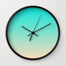 Bright Turquoise and Angelskin Tropical Paradise Seychelles Island Beach Wall Clock