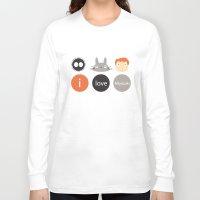 miyazaki Long Sleeve T-shirts featuring I Love Miyazaki by Etiquette