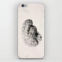brain iPhone & iPod Skins featuring Brain by Andreas Derebucha