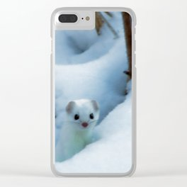Winter weasel Clear iPhone Case