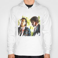 pulp fiction Hoodies featuring Pulp Fiction by Miquel Cazanya