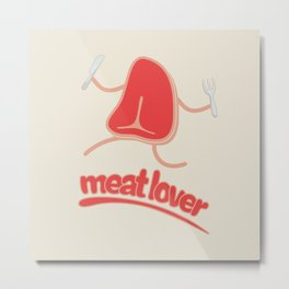 Meat lover - T bone Metal Print