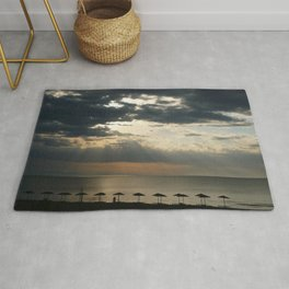 Morning clouds Rug
