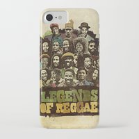 reggae iPhone & iPod Cases featuring Legends of Reggae Poster by Panda