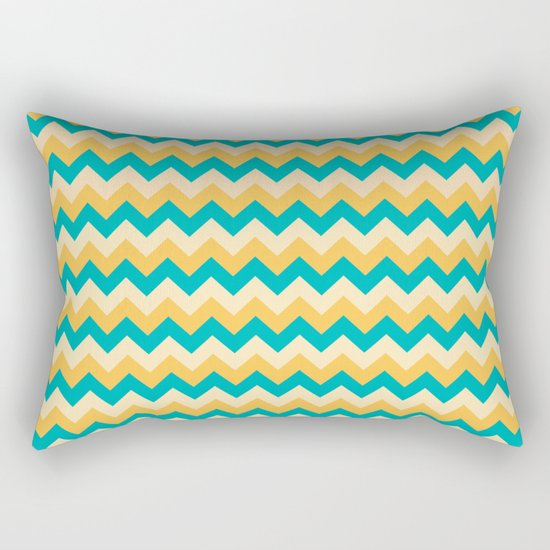 Colorful Chevron Pattern Rectangular Pillow