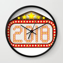 2018 Movie Theatre Marquee Wall Clock