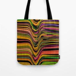 CRUSH multi-colour abstract design green orange purple yellow Tote Bag