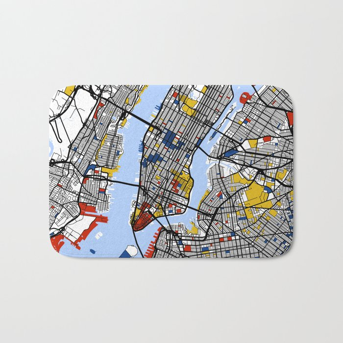 New York Mondrian Bath Mat