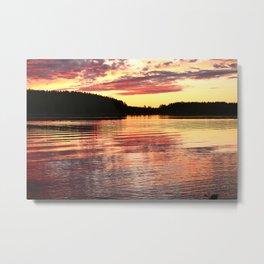 Summer Evening Lake Scenery #decor #society6 #buyart Metal Print