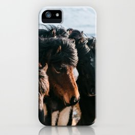 Horses in Iceland - Wildlife animals iPhone Case